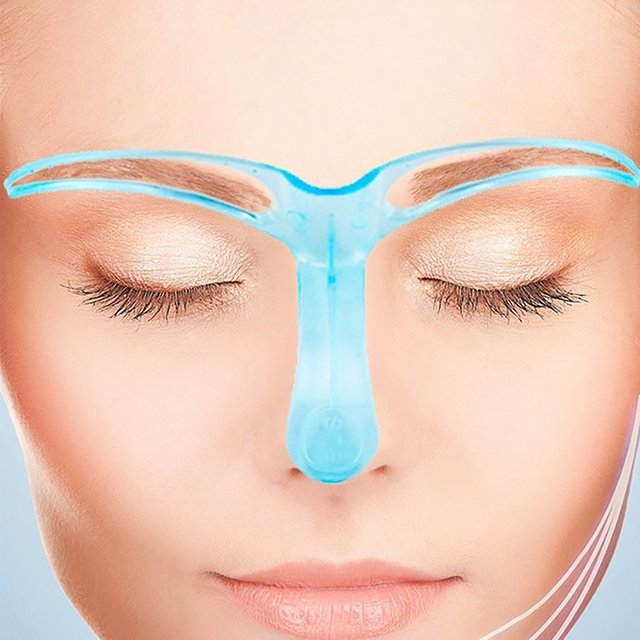 Eyebrow Template Stencil Grooming Shaping Helper DIY Makeup Tool Beauty Make up Kit Reusable Eyebrow Drawing Guide Template 3