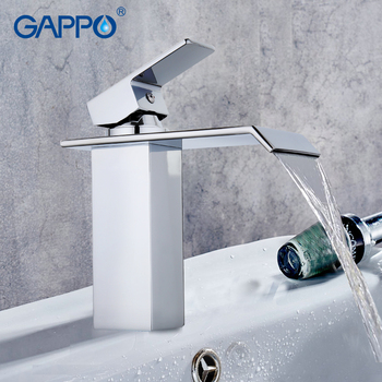 GAPPO water mixer tap Basin sink Faucet bathroom basin faucet mixer tap brass faucet waterfall basin faucets single hole tap 7