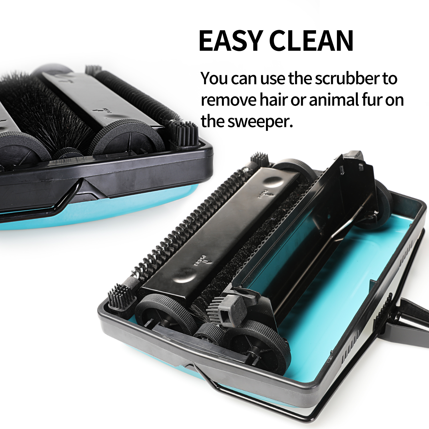 Color:Blue Carpet Sweeper Cleaner For Home Office Low Carpets Rugs Undercoat Carpets Pet Hair Dust Scraps Small Rubbish Cleaning