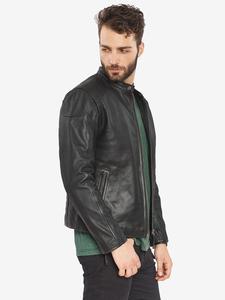 Image 2 - VAINAS avrupa marka erkek Premium Buffalo deri ceket erkekler kış gerçek deri motosiklet ceketler Biker ceketler ROMEO