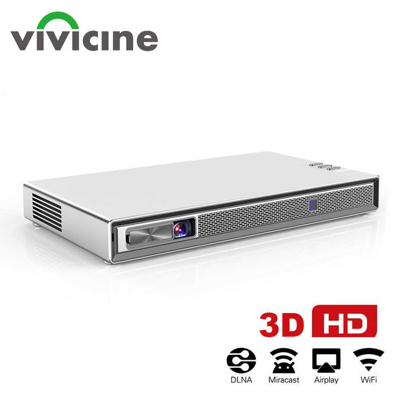 Vivicine-Proyector T5 HD 4K, Con DLP 3D Real, batería con Zoom, Auto Keystone,Android 6,0, WiFi, LED inteligente, Bluetooth Airplay