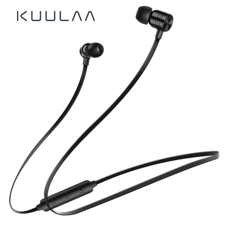 KUULAA Bluetooth Earphone Wireless Earphones Neckband Sport Handsfree Earbud Bluetooth Headset For Phone Fone De Ouvido