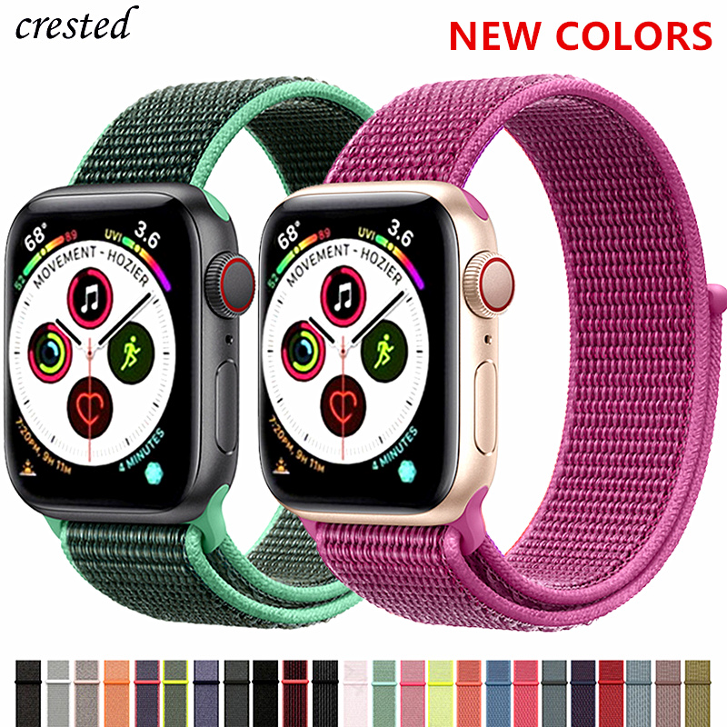 Nylon Strap For Apple Watch Band Apple Watch 4 Band 44mm 40m IWatch Band 42mm 38mm Sport Loop Bracelet Watchband Series 5 4 3 21
