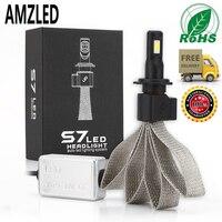 AMZLED S7 LED Car H4 Headlight Bulbs H7 9005 H11 H8 H9 HB1 HB3 9006 9007 880 12V 55W 6000K 12000LM/Pair Lamp Auto Bulb Fog light
