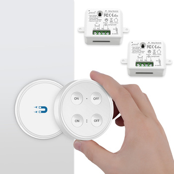 Wireless Light Switch Remote Control Dual ON OFF 220V up to 200m Wall Switch or Portable No wires easy to install, No WiFi