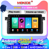 MEKEDE AutoRadio 1 Din New Android Car DVD Player For BMW E46 Multimedia M3 318/320/325/330/335 Rover75 Coupe GPS Navigation 4G