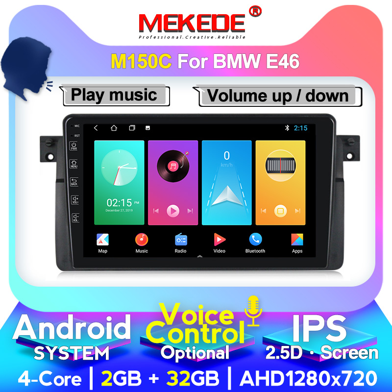 MEKEDE AutoRadio 1 Din New Android Car DVD Player For BMW E46 Multimedia M3 318/320/325/330/335 Rover75 Coupe GPS Navigation 4G image