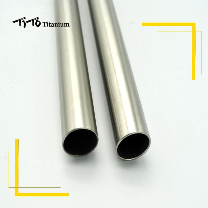 Image 2 - free shipping of MTB Titanium bike handlebar flat handlebar 31.8 or 25.4*600/620/640/660/680/700/720mm design custom logo-in Bicycle Handlebar from Sports & Entertainment