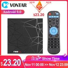 2020 Smart TV, pudełko z systemem Android 9 4GB 32GB 64GB T95 Max TVBOX Allwinner H6 czterordzeniowy 6K HDR 2.4GHz Wifi T95MAX z systemem Android zestaw pudełkek pod telewizor
