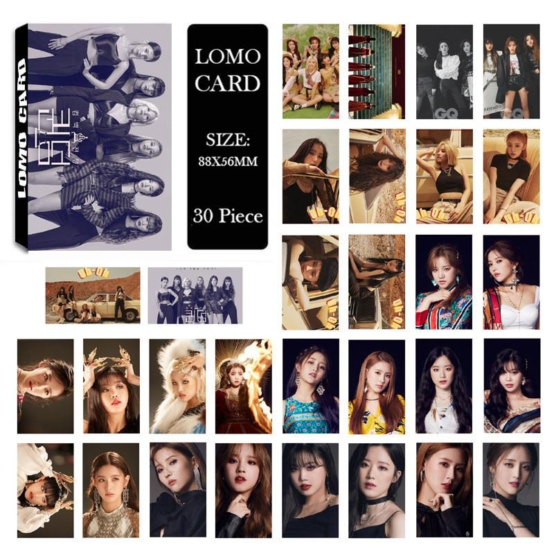 KPOP GIDLE (G)I-DLE G-IDLE Лев I Trust альбом персонаж LOMO фото карты бумажные карты фотостудия (30 карт)