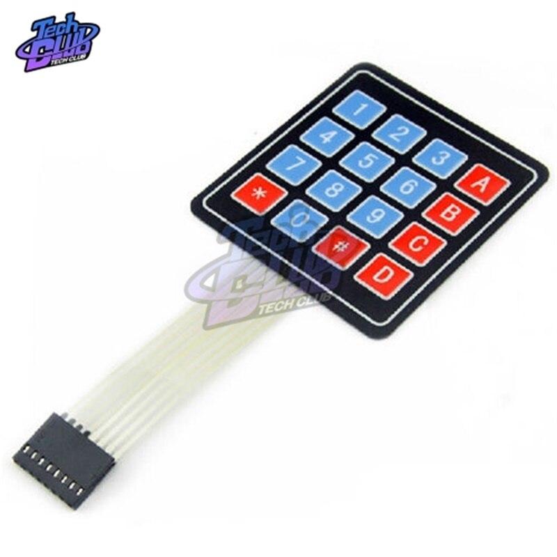 16 Key 4*4 Membrane Switch Keypad 4X4 Matrix Array Keyboard For Arduino Diy Kit