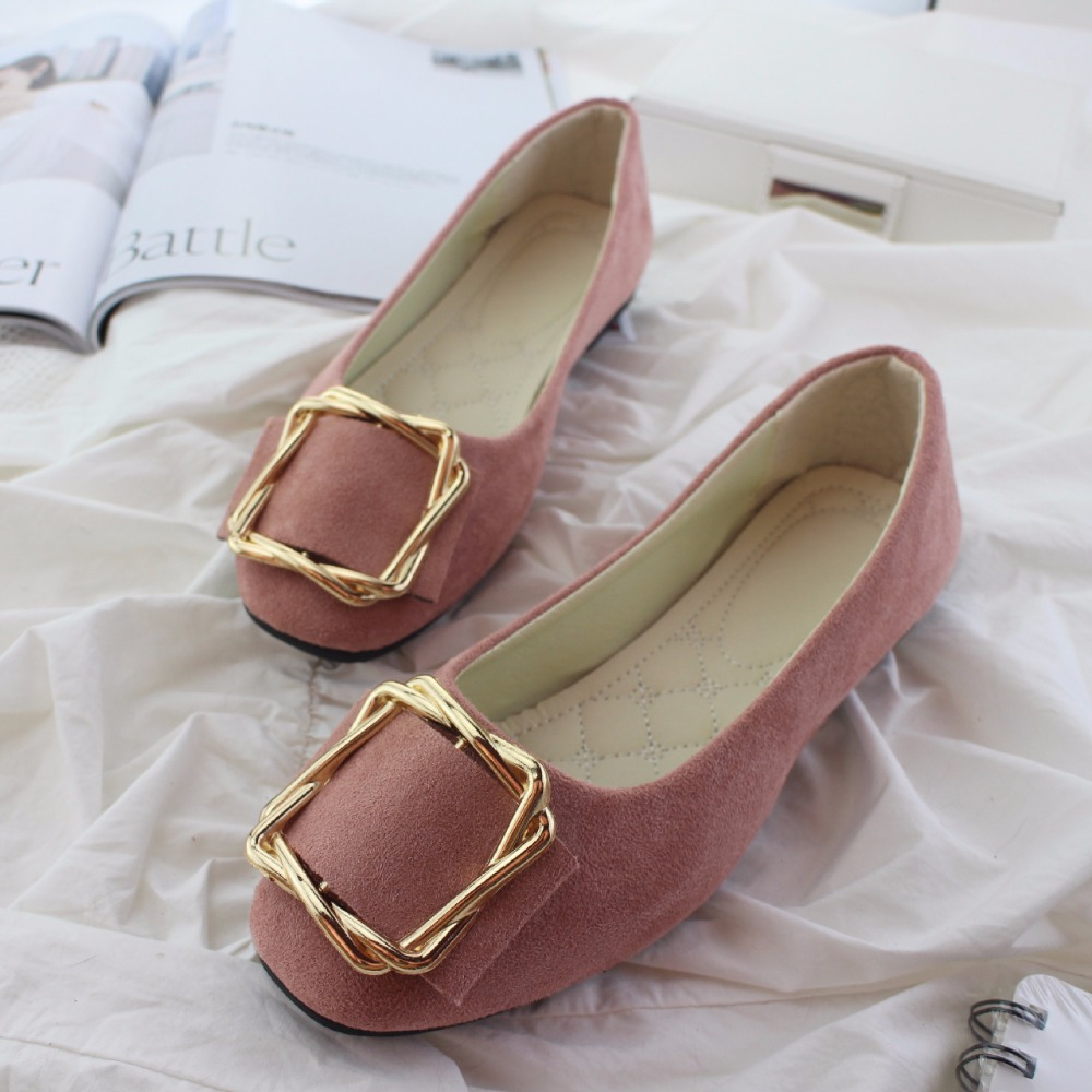 2020 New Flock Women's Flats for New Summer Slip-On Round Toe Casual Flat Shoes Basic Ballet Shoes Woman Size Plus Women Loafers