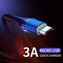 Micro USB câble 3A charge rapide données synchronisation cordon Microusb câble android USB fil téléphone portable câble pour Huawei Xiaomi Samsung HTC