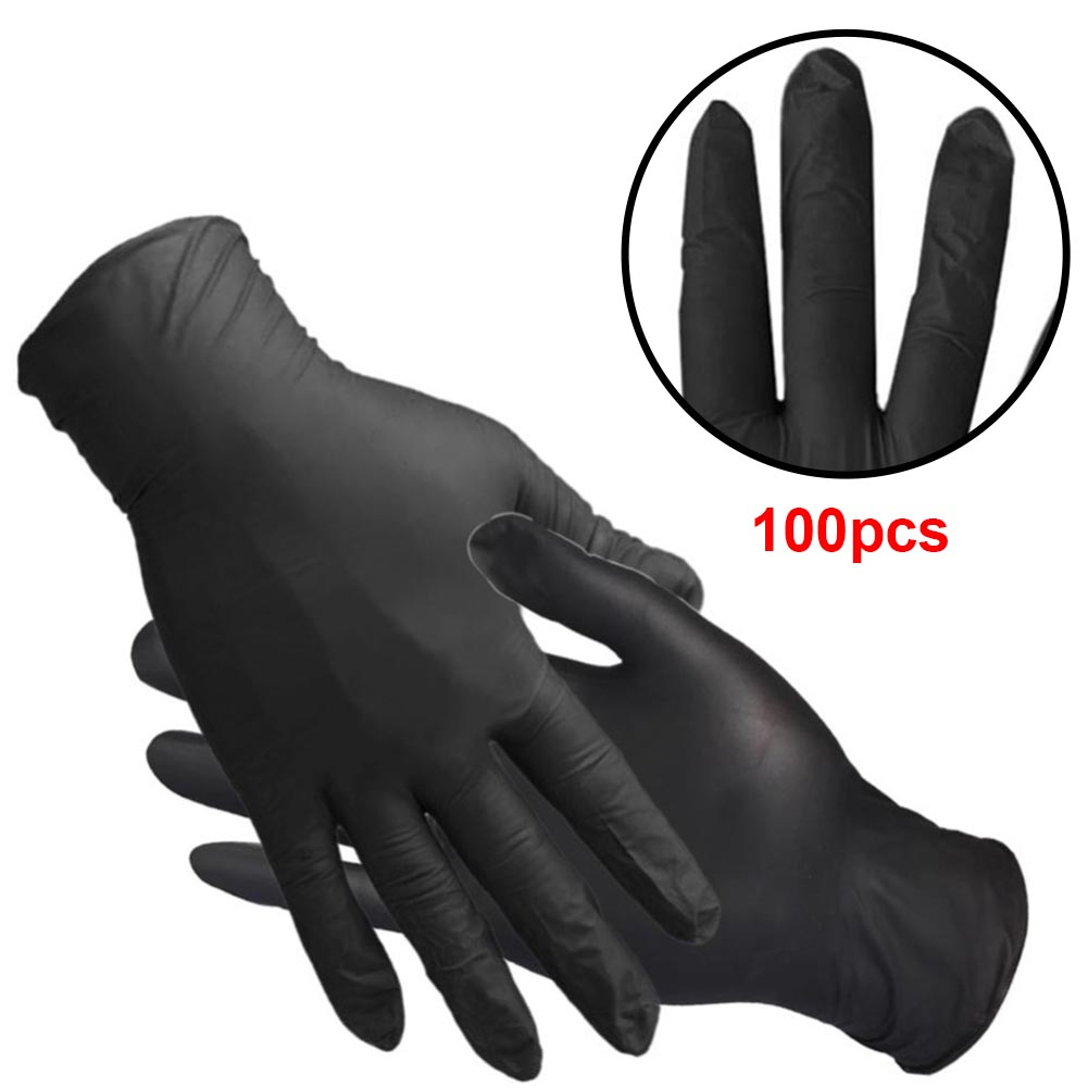 100Pcs Exam Waterproof Household Oilproof Tattoo Latex Free Washing Laboratory Disposable Nitrile Gloves Mechanic Anti Slip