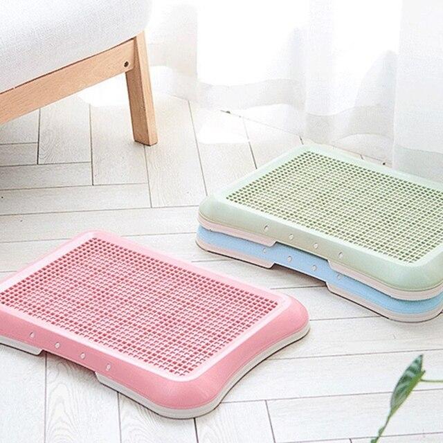 Plateau de boîte de rangement en plastique   Qualité en plastique, pour animaux domestiques intérieur, coussin dentraînement des toilettes, plateau de litière pour chiens