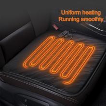 12 В Автомобильная подушка с подогревом для сидения, одноместная Подушка с подогревом для офисного отопления, маленькая квадратная подушка с быстрой теплопередачей, износостойкая