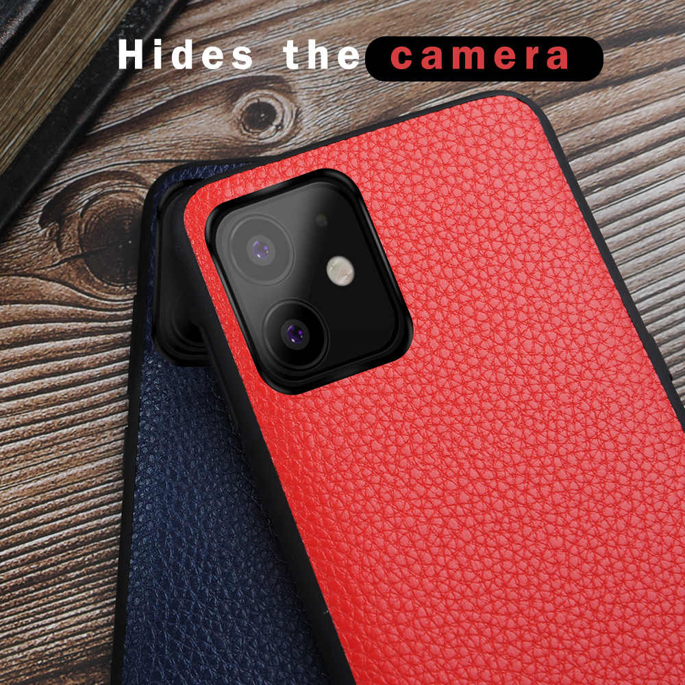 Para o iphone 11 pro caso mofi para o iphone 11 caso max capa traseira macio couro do plutônio para o iphone 11 caso protetor luva preto puro vermelho