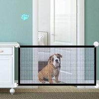 Pet Klapp Tür Hund Net Zaun Nylon Faltbare Hund Isolation Net Perforation-Freies Leichte Und Tragbare Tool Starke Haken