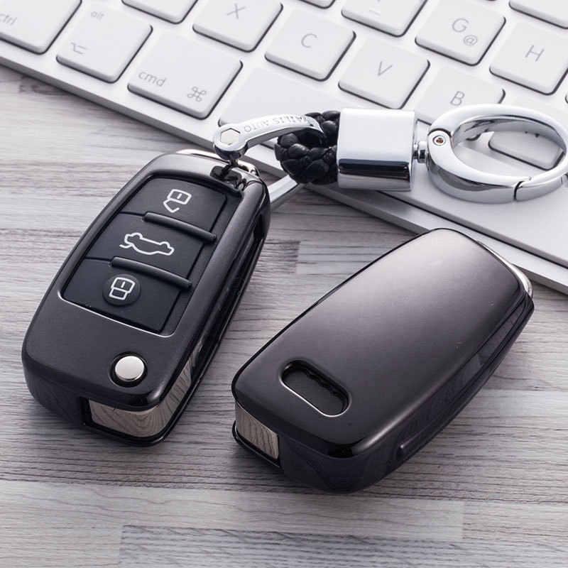 TPU רכב מפתח מקרה מפתח כיסוי הגנה עבור אאודי Q7 C6 A7 A8 R8 A1 A3 A4 A5 פגז רכב-סטיילינג אביזרי מפתח מקרה עבור רכב
