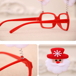1PC Creative Christmas Items Party Glasses Frame Decoration Christmas Articles New Year Xmas Decoration Glasses Gift for Kids 6