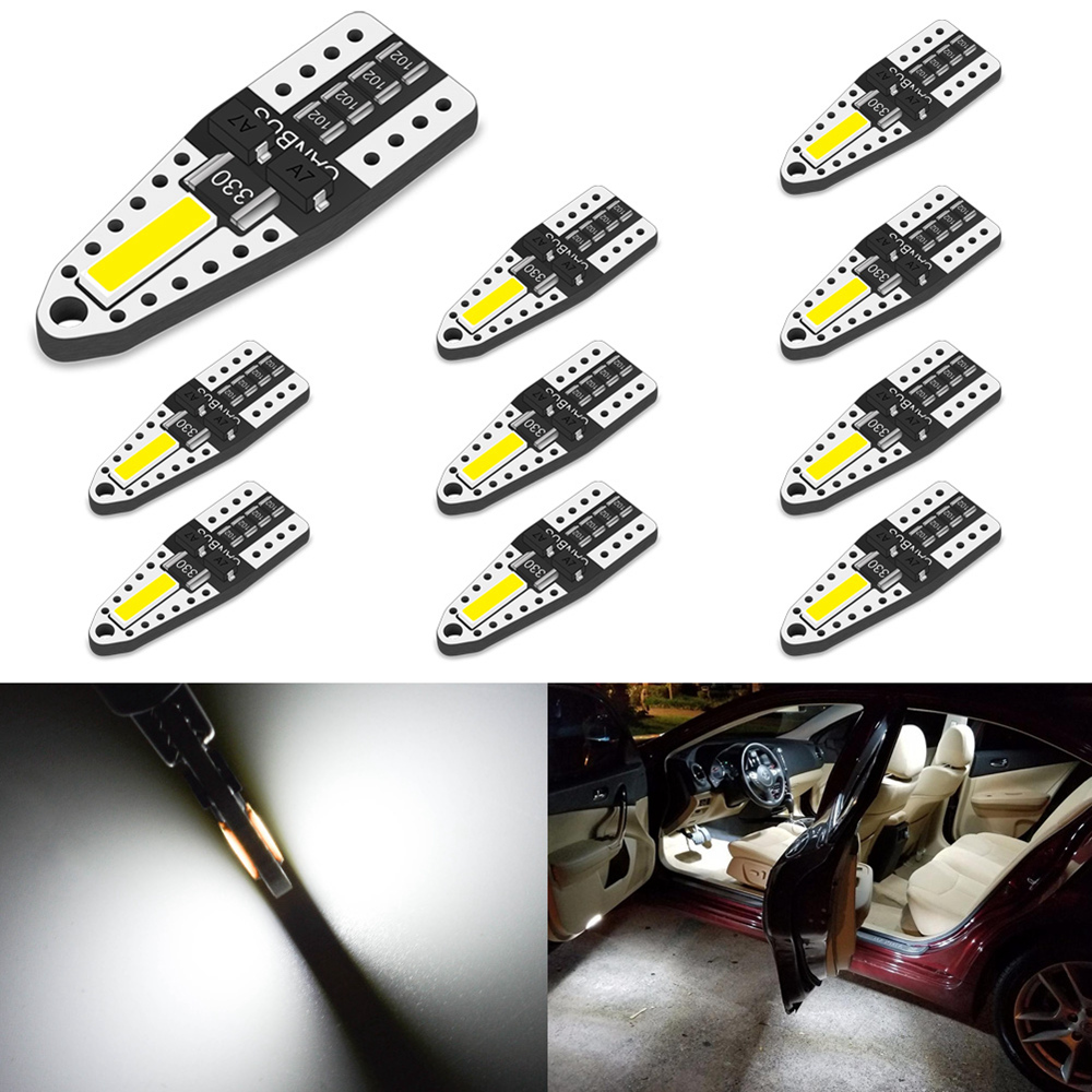 10x T10 LED Car Interior Bulb W5W Led Bulb 194 168 Light For Nissan Note Tiida Qashqai Juke Tiida X-Trail J11 Pathfinder Versa