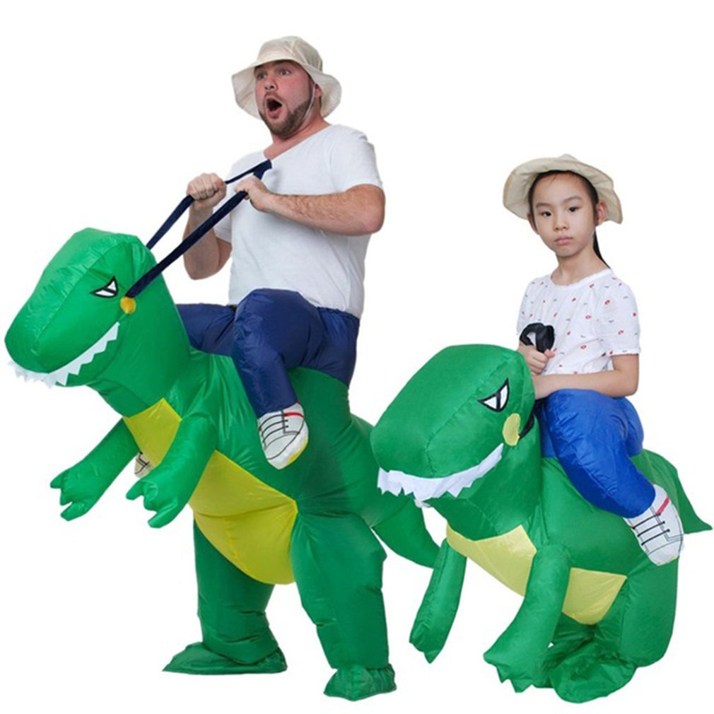 Inflatable Dinosaur Costume Rex Children Adult Festival Funnny Dress Cosplay Suit Animal Shaped Cosplay Suit