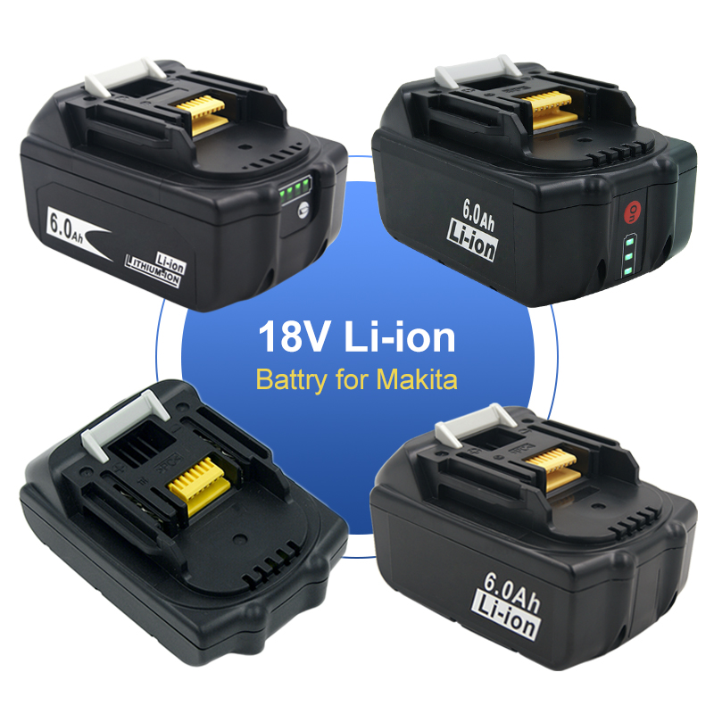 6A/5A/2A Lithium Power Tool Replacement Li-ion Rechargeable Battery for <font><b>Makita</b></font> 18V BL18560 BL1850 BL1840 BL1830 <font><b>BL1820</b></font> BL1815 image