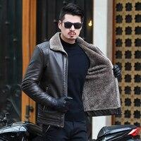 8XL 6XL Winter Jackets Men Casual Outwear Bomber Jacket Winderbreaker PU Motorcycle Leather Jackets male fur coat Dropshipping