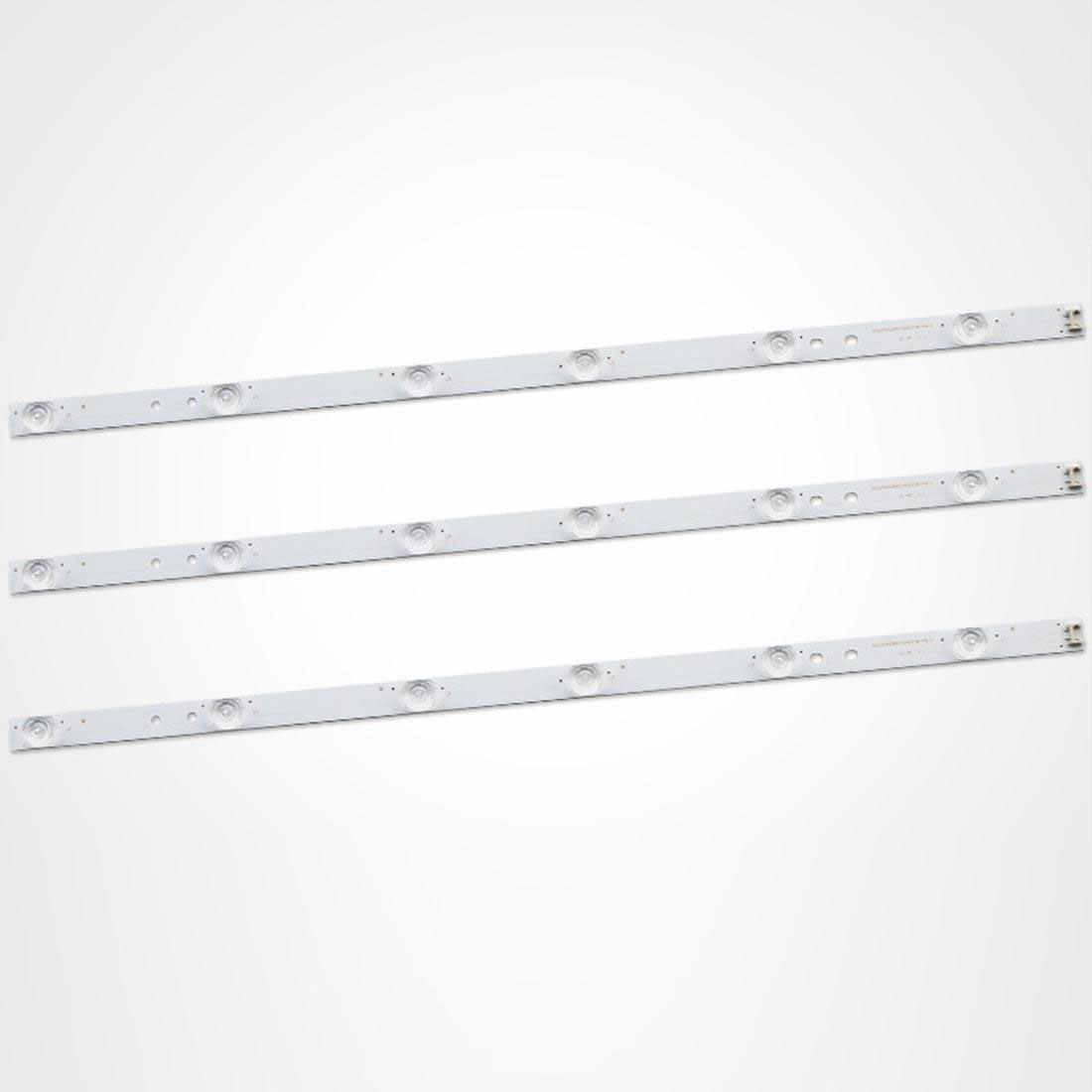 LED شريط إضاءة خلفي 7 مصباح ل LG 32 بوصة 6916L-1437A 6916L-1438A ضوء متغير اللون الزخرفية لام led كابل يو اس بي Led الإضاءة