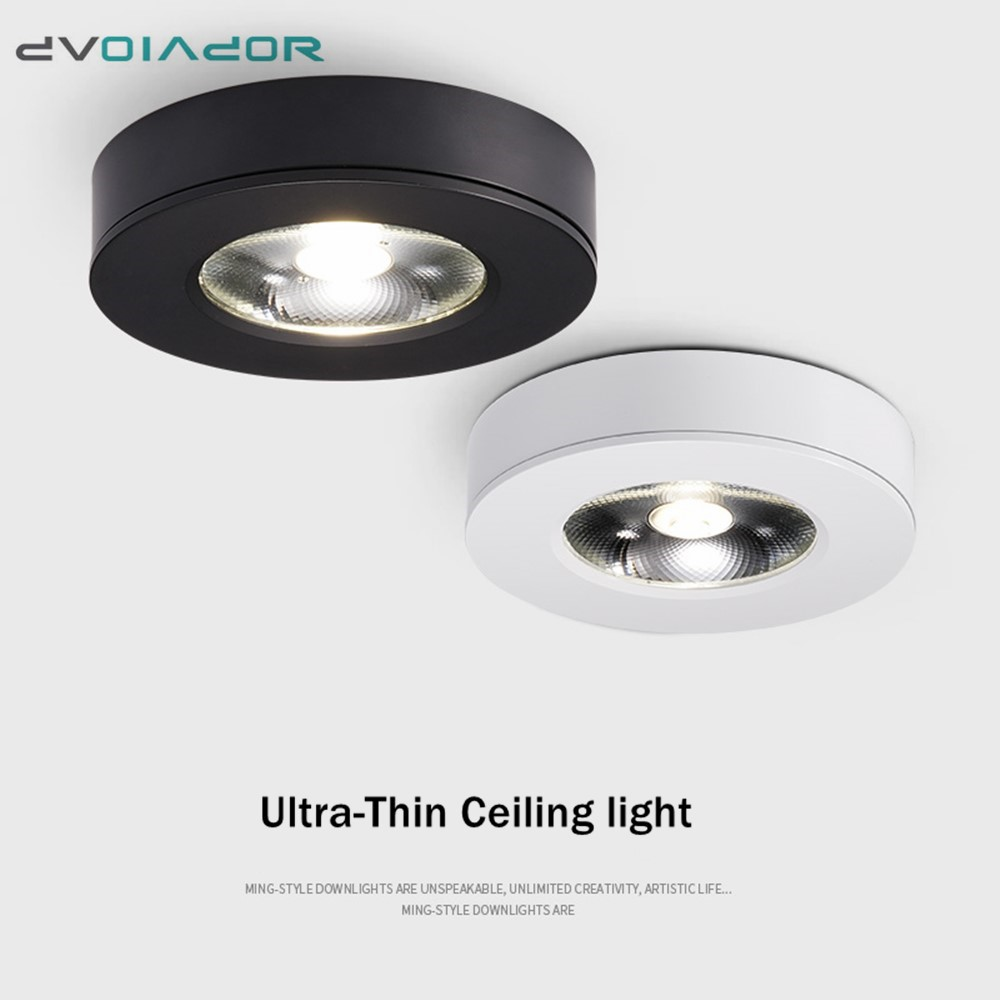 Ultra thin 3Color Surface Mount LED Ceiling Down Light 5W 7W 10W 15W for Living Room Bedroom Kitchen AC 220V Spot light lamp image