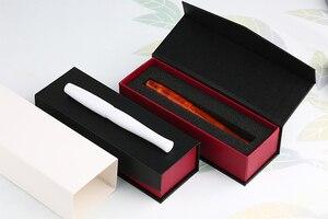 Image 5 - Penbbs 323 calligraphie stylo chine acrylique couleur adulte cadeau boîte débit pression négative vide F plume Transparent Moonman