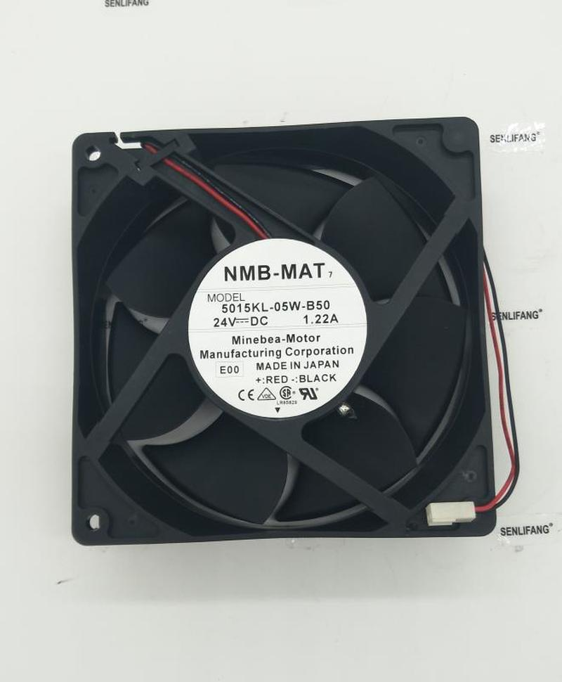 Free Shipping For NMB-MAT 5015KL-05W-B50 E00 Server Square Fan DC 24V 1.22A 127x127x38mm 2-wire