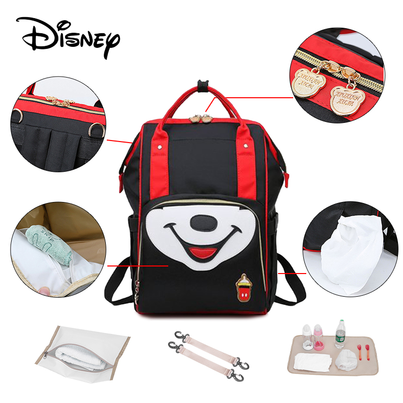 Disney Large Capacity Mummy Diaper Bag Backpack Mommy Bags Maternity Large Nappy Waterproof Bag For Strollerbags Mochila  Usb