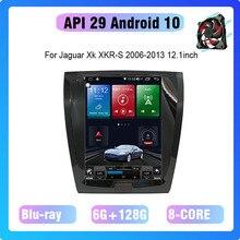 COHO עבור יגואר Xk XKR S 2006 2013 12.1 אינץ מולטימדיה לרכב DVD רדיו סטריאו נגן GPS ניווט ראש יחידה