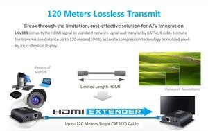 Image 4 - Hasta 120m con IR,LKV383 HDbitT HDMI 1080P extensor LAN repetidor sobre RJ45 Cat5e/Cat6, Envío Gratis