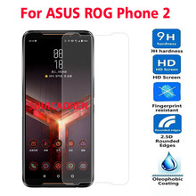 2PCS Tempered Glass For ASUS Rog Phone 2 RogPhone 2 Z01QD Screen Protector protective film For ASUS ROG Phone II ZS660KL Glass(China)