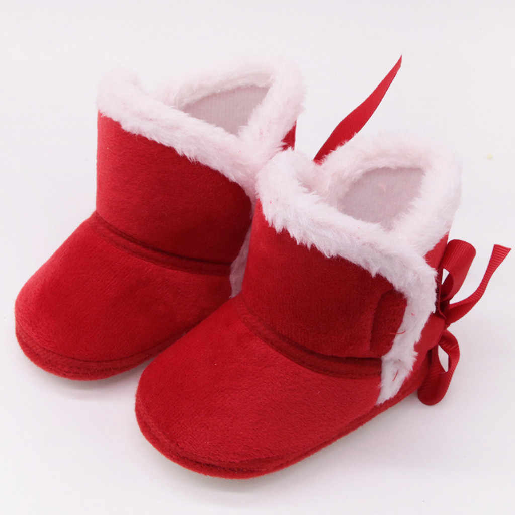 Infant Stiefel Winter Warme Baby Jungen Mädchen Schuhe Anti-slip Kleinkind Schnee Atem Prewalker Slip-on Solide Kinder der Winter Stiefel
