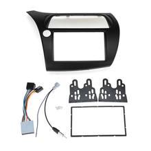 LHD 2 Din konsola Radio Dvd Stereo Cd tablica rozdzielcza montaż instalacja zestaw do przycinania ramka na twarz ramka z drutem Harne dla Honda Civic