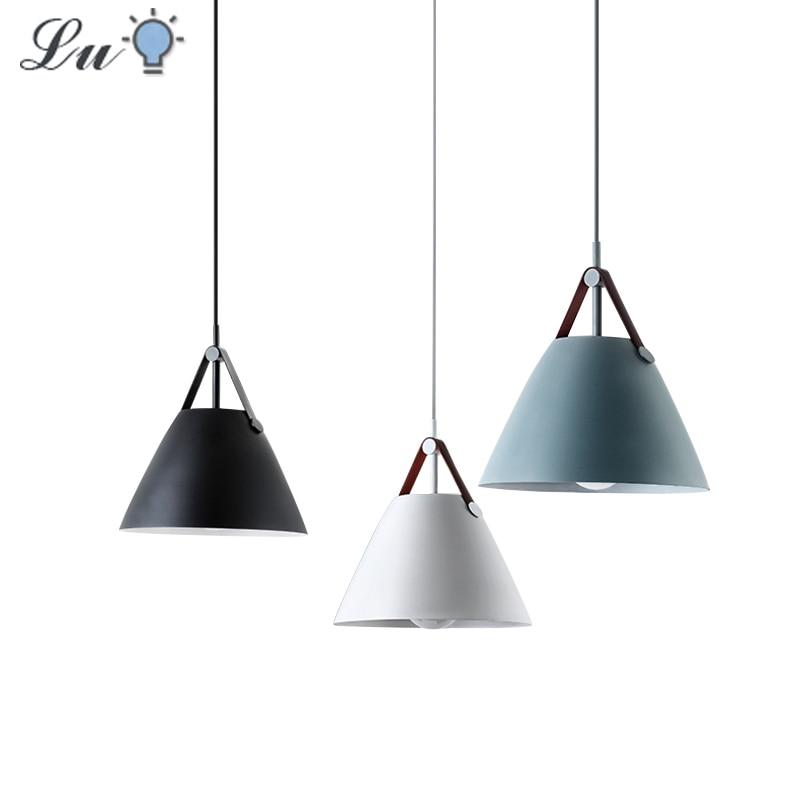 Nordic Modern Hanging Ceiling Lamps LED Restaurant Pendant Lights Fashion Bedroom Pendant Lamp Lighting For Dining Room Hanglamp
