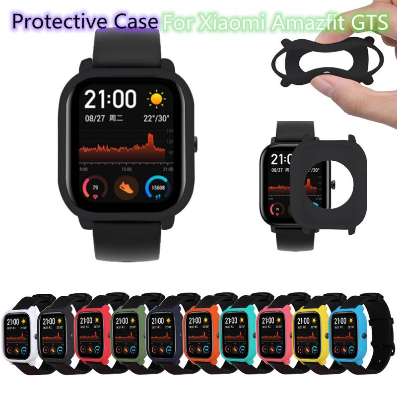 Watch Protective Case Cover For Xiaomi Huami Amazfit GTS Watch Soft TPU Full Edge Shell Frame Bumper Protector Watch Screen Film
