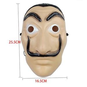 Image 3 - 1pcs Salvador Dali Plastic Mask Paper House La Casa De Papel Cosplay Decoration Masquerade Halloween Mask Funny Tools