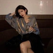 Элегантные женские рубашки qweek 2020 Модные Винтажные блузки