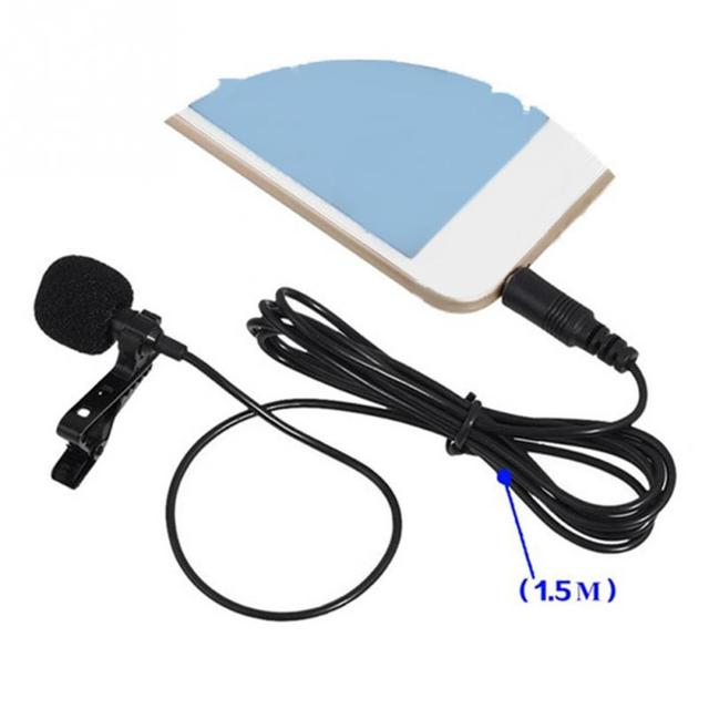 VOXLINK 3.5 mm Microphone Clip Tie Collar for Mobile Phone Speaking in Lecture 1.5m/3m Bracket Clip Vocal Audio Lapel Microphone 6