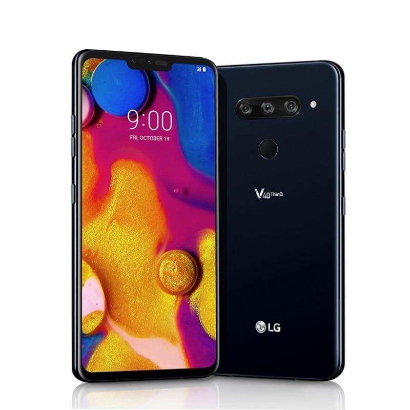 """Разблокированный LG V40 ThinQ 6,"""" Qualcomm845 6 ГБ ОЗУ 64 Гб/128 Гб ПЗУ 3+ 2 камеры(без иврита/польского языка - Цвет: Черный"""