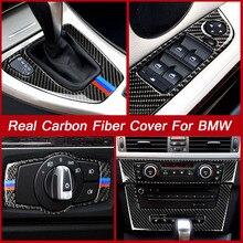 1 Chiếc Xe Mới Gear Dịch Chuyển Bảng Điều Khiển Nút Vặn Bao Sợi Carbon Decal Xe Hơi Tự Động Dịch Chuyển Hộp Bảng Điều Khiển Dành Cho xe BMW E90 E92 E93 Nội Thất