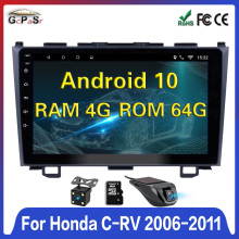 2din Android 10 Auto Radio GPS Navigation Für Honda CRV CR-V 2006 2007 2008 2010 2011 WiFi navi auto Multimedia-Player DVD Video