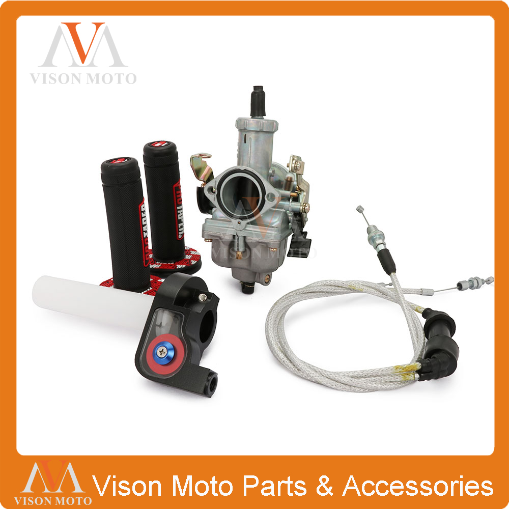 PZ30 30mm Carburetor Tuning Tuned Power Jet 200 250cc For Keihin ABM IRBIS TTR 250 With Visiable Throttle Cable Pro Taper Grips