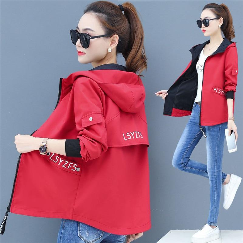 2020 New Streetwear Hooded Printed Jacket Women And Causal Windbreaker Basic Jackets Reversible Baseball Zippers Jacket 3XL P300