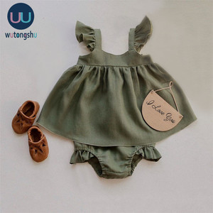 Baby Clothes Girl Dress For 0-24M Baby Summer & Spring Organic Cotton Newborn Gir Clothes New Born Sleeveless Kids Girl Clothing(China)