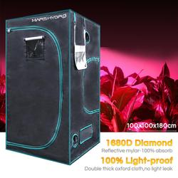 1680D Marshydro Indoor Hydrocultuur groeien tent 100*100*180 cm, Groeien kit, volledig LED Indoor Teeltsysteem